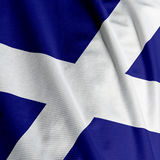 Scottish Flag Closeup Royalty Free Stock Photos
