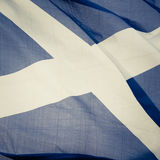 Scottish Flag. Closeup Of The Saltire Flag Of Scotland Royalty Free Stock Photos
