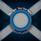 Scottish flag grunge background Royalty Free Stock Images