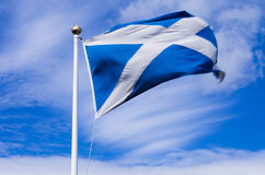 Scottish flag Royalty Free Stock Photography
