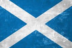 Scottish Flag. Scotland - Scottish Flag on Old Grunge Texture Background royalty free stock images