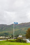 Scottish Flag on Skye Island Stock Images