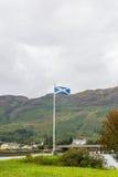 Scottish Flag on Skye Island Stock Images