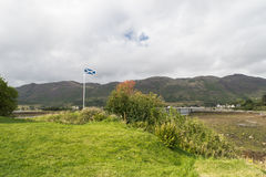Scottish Flag on Skye Island Royalty Free Stock Photo