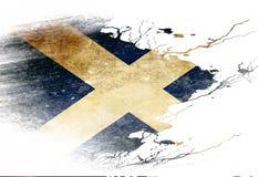 Scottish flag Stock Photos