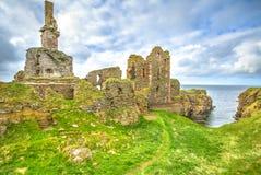 Girnigoe Castle Sinclair stock photos