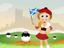 Scottish girl Stock Image