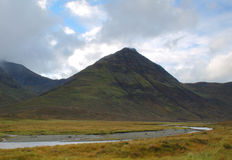 Scottish Highands. The mountainous landscape of the Isle of Skye, Scotland Royalty Free Stock Images