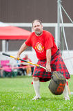 Scottish highland games august – winnipeg mb canada manitoba association of celtic sports organized heavy during folklorama Royalty Free Stock Photography