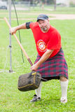 Scottish highland games august – winnipeg mb canada manitoba association of celtic sports organized heavy during folklorama Stock Image