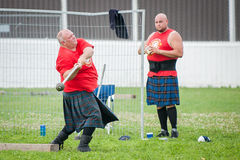 Scottish highland games august – winnipeg mb canada manitoba association of celtic sports organized heavy during folklorama Royalty Free Stock Photos