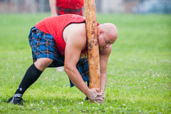 Scottish highland games august – winnipeg mb canada manitoba association of celtic sports organized heavy during folklorama Royalty Free Stock Photo
