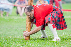 Scottish highland games august – winnipeg mb canada manitoba association of celtic sports organized heavy during folklorama Stock Images