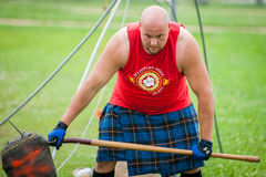 Scottish highland games august – winnipeg mb canada manitoba association of celtic sports organized heavy during folklorama Stock Photos