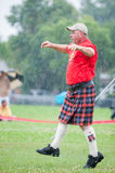 Scottish highland games august – winnipeg mb canada manitoba association of celtic sports organized heavy during folklorama Royalty Free Stock Image