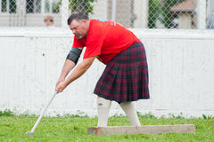 Scottish highland games august – winnipeg mb canada manitoba association of celtic sports organized heavy during folklorama Stock Photography