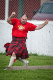 Scottish highland games august – winnipeg mb canada manitoba association of celtic sports organized heavy during folklorama Stock Photo