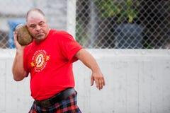 Scottish highland games. August 15, 2015 – Winnipeg, MB, Canada -  Manitoba association of Celtic sports organized Scottish heavy games during Folklorama Royalty Free Stock Photography