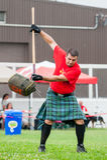 Scottish highland games. August 15, 2015 – Winnipeg, MB, Canada -  Manitoba association of Celtic sports organized Scottish heavy games during Folklorama Stock Images