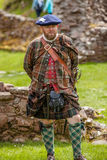 Scottish Highlander historical review Stock Photography