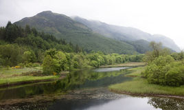 Scottish highlands. View of Scottish highlands near Glencoe after a rain storm royalty free stock image