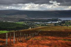 Scottish highlands lairg Royalty Free Stock Images