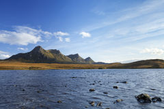Scottish Highlands, lake and mountains of Ben Loyal Stock Photography