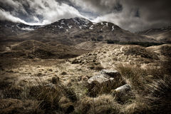 Scottish Highlands Landscape. Mountain range, UK stock photos