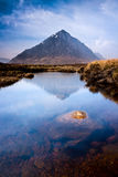 Scottish highlands landscape mountain and river Stock Images