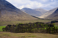 Scottish Highlands near the village of Glenfinnan Royalty Free Stock Photos