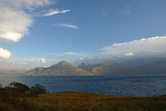 Scottish Highlands. A quick glimpse of the beauty of the Scottish Highlands on a day of changeable weather Royalty Free Stock Photo