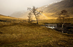 Scottish Highlands Rainbow Royalty Free Stock Photos