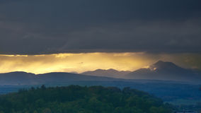 Scottish Highlands at sunset Stock Photography