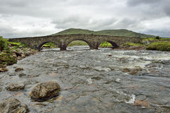 Scottish Higlands, brigde, river Sligachan Royalty Free Stock Image