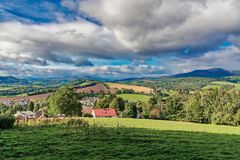 The Beautiful Town of Crieff and Hillside Scotland royalty free stock photo