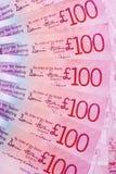 Scottish Hundred Pound Notes. A fan of Scottish hundred pound notes Royalty Free Stock Image