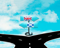 Scottish independence from Britain Royalty Free Stock Photography