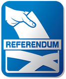 Scottish independence referendum royalty free illustration