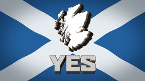 Scottish Independence Referendum Yes Vote September stock video footage