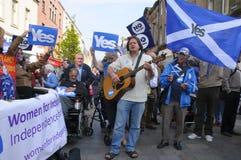 Scottish Indy-Hinweis 2014 Stockbild