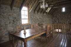 Scottish interior of old dry-stone house Royalty Free Stock Images