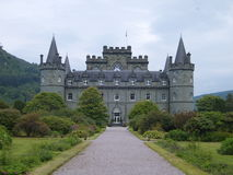Scottish Inverary Castle Royalty Free Stock Photos