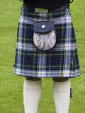 Scottish kilt. Including the traditional bag Stock Photo