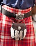 Scottish Kilt with shepherd purse Royalty Free Stock Photography