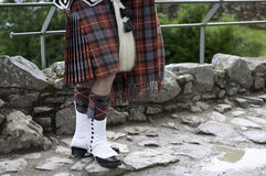 Scottish kilt and shoes Stock Photography
