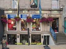Scottish kilt shop Stock Photo