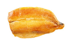 Scottish kipper fillet, isolated on white. Smoked scottish kipper fillet, isolated on white background Royalty Free Stock Photography