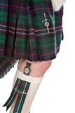 Scottish knife and tartan. Sgian dubh or traditional sottish knife and kilt Royalty Free Stock Photography