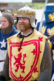 Scottish Knight in battle dress Royalty Free Stock Images
