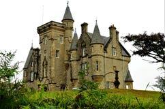 Scottish Landmarks - Glengorm Castle. An exterior view of Glengorm castle on the Isle of Mull Stock Photos